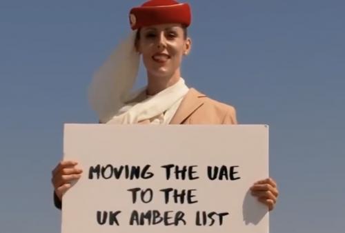 在828米塔尖打广告,阿联酋航空好绝